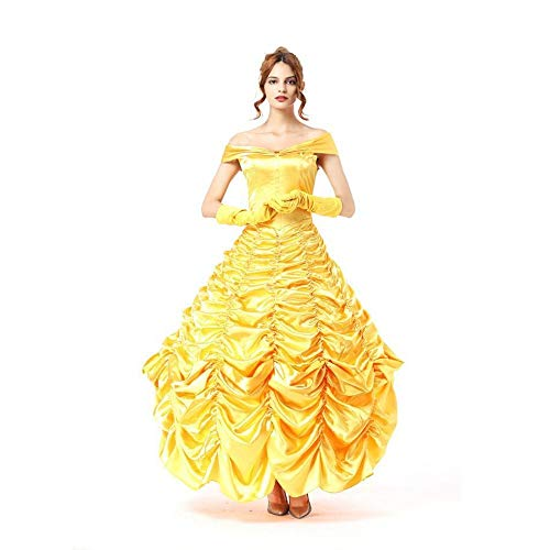 Olydmsky Costumi da Donna di Halloween Bellezza e la Bestia Principessa Gonna Cos Costume Adulto Vestito Ruolo Play