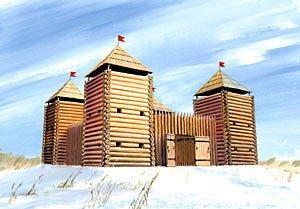 Zvezda 500788501 - 1:72 Medieval Fortress (Wooden)