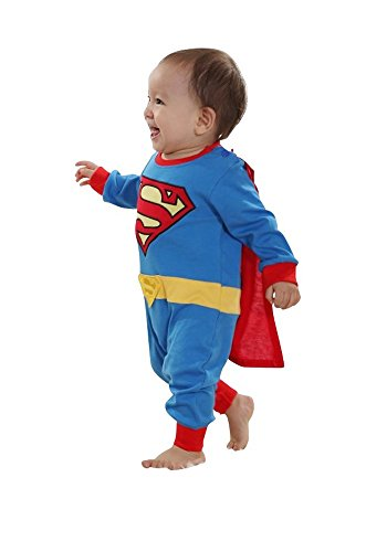 Baby-Kostüm Superman Strampler Kinderkostüm Comic Superheld, (Superman Comic Kostüm)
