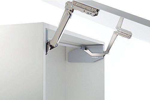 Gedotec Hochschwenkbeschlag Küche Klappenbeschlag Free Swing für einteilige Klappen aus Holz   Liftbeschlag für Korpushöhe 500-670 mm   Klappengewicht: 7,0-15,9 kg   1 Garnitur