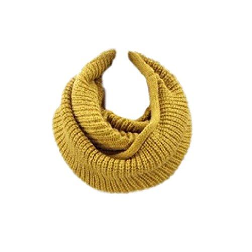 Ducomi sciarpa gilt infinity a tubo in morbido misto lana - ottimo regalo (giallo)