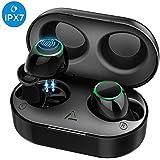 Mpow Ecouteurs Bluetooth sans Fil, T6 Ecouteurs IPX7/28 H/CVC 8.0/Contrôle Tactile/Bluetooth 5.0/Mono-Stéréo Ecouteurs sans Fil Bluetooth Sport Oreillettes Invisible Kit Mains Libres avec Micro