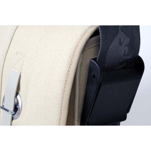 HAB & GUT (E4024A-O) Borsa a tracolla Mini-PROVKED, di canvas con chiusura con cinghia e occhiello BLU MARINO 26 x 19 cm beige
