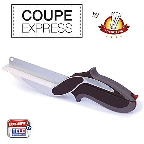 Kitchen Pro – Coupe Express 2en1 l'Original, l'ustensile de cuisine idéal pour couper, trancher et découper en un instant toute vos préparations.