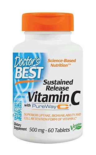 Release 60 Tabletten (Doctors Best Pureway-C Sustained Release Vitamin C, 60 Tabs)