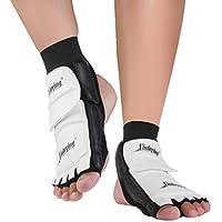 TYKusm Taekwondo - Almohadillas protectoras para pies, color negro y blanco