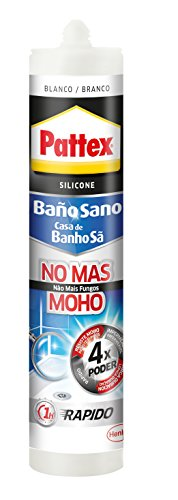Pattex No mas moho, silicona antimoho, larga duración impermeable, blanco, 280ml