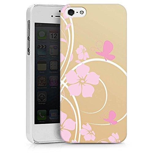 Apple iPhone X Silikon Hülle Case Schutzhülle Blume Schmetterling Floral Hard Case weiß