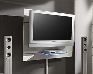 wandpaneel tv support mural avec goulotte plaque verre. Black Bedroom Furniture Sets. Home Design Ideas