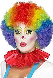 Smiffy's Smiffys Colletto con Volant da Clown, Rosso per Adulti, Rosa, Taglia Unica, 4