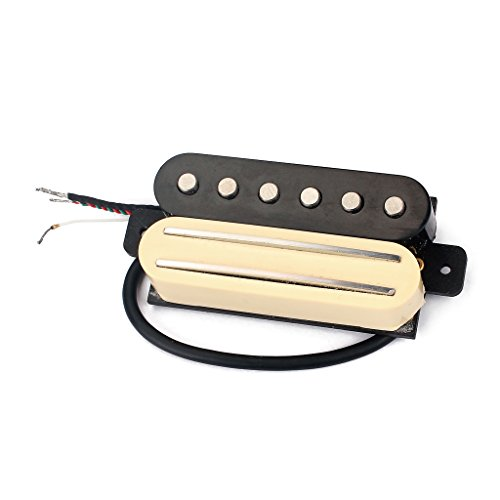 Alnicov Hot Rail Mit Single Coil Humbucker Twin Pickup Für Fender ST E Gitarre