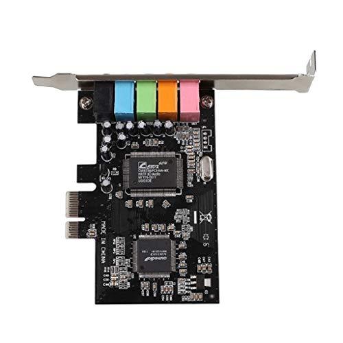 Almencla CMI8738 Interne 5.1 Kanal Soundkarte PCI E Audio Digital Für PC Windows