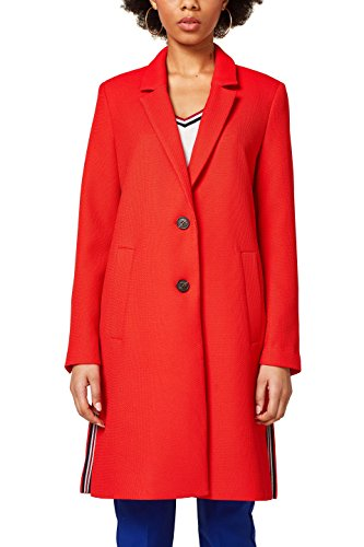 ESPRIT Damen Mantel 028EE1G007, Rot (Orange Red 635), Medium