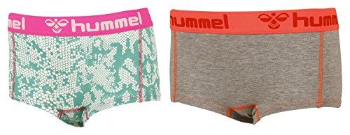 Hummel Damen Hotpants Hers 2 Pack Mini Shorts Grau