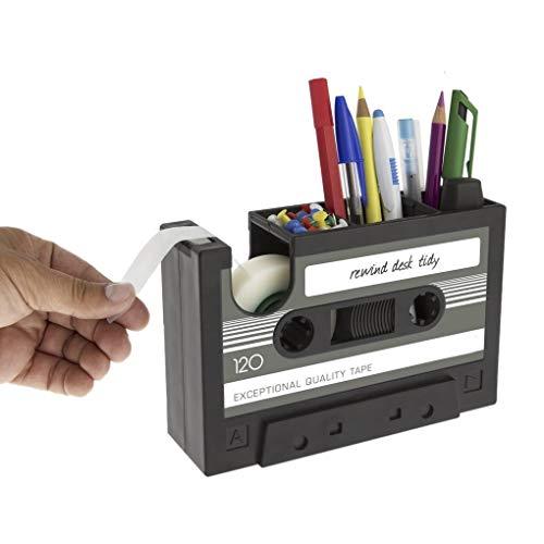 QIFUDEVS-PEN HOLDER Home Creative Tape Design Desktop Stifthalter Dekorative Schreibtisch Ordentlich Organizer Aufbewahrungskoffer Klebebandspender Büro Stationäre Sammlung Inhaber