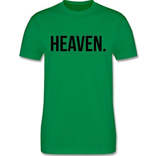 Statement Glaube Religion - Heaven Himmel schwarz - Herren T-Shirt Grün
