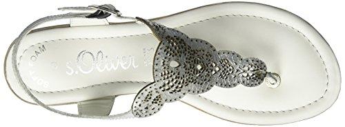 s.Oliver Damen 28102 Zehentrenner Silber (SILVER METAL. 947)