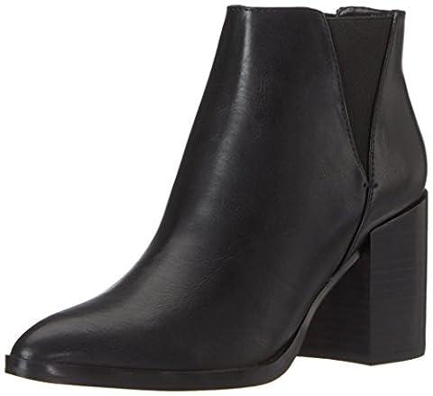 Buffalo Shoes Damen B006A-310 P1735A PU Chelsea Boots, Schwarz (Black 01), 38 EU