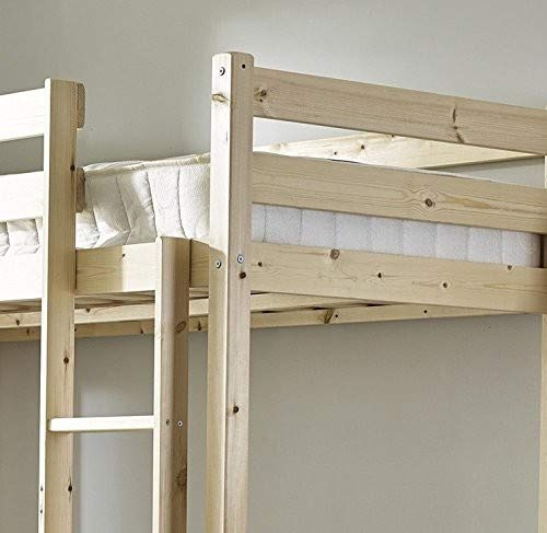 Loft Bunk Bed - Heavy Duty 3ft single wooden high sleeper bunkbed - CAN BE USED BY ADULTS