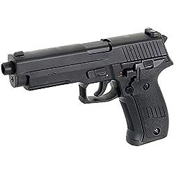 CYMA Airsoft P226 Pistolet Electrique AEP Semi/Automatique Cm122 (0.5 Joule) Noir Culasse Métal