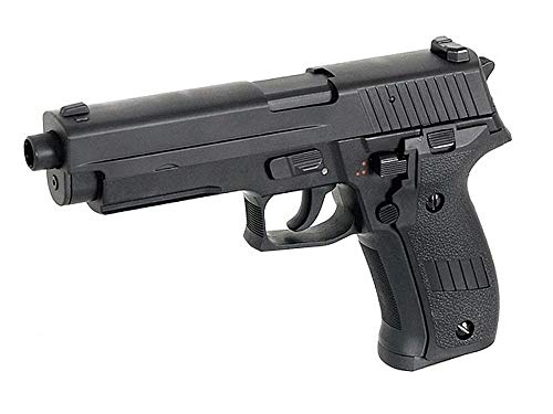 Cyma Airsoft P226 elektrische Pistole AEP Semi/automatische Cm122 (0,5 Joule) schwarz Zylinderkopf Metall - Air-pistole Semi Auto