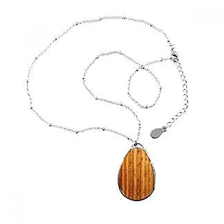 Naranja para suelos de madera papel pintado textura lágrima forma colgante collar joyas con cadena decoración regalo