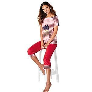 Pijama Camiseta de Escote Barco con Vivo a Contraste Mujer by VencaSty – 012893