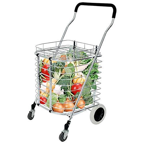 7c5537111b1a ZSLLO Shopping Trolley Rubber Wheel Stair Shopping Cart Shopping Cart  Trolley Bag Collapsible Reusable Grocery Shopping Bag Eco Supermarket Bag  Easy ...