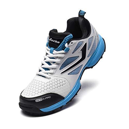 Jazba SKYDRIVE 110 Scarpe da Cricket per Uomo con Resistente Gomma, Stud, Scarpe da Corsa Leggere e reattive Sneakers, Tacchetti da Baseball per Allenamento e Sport Outdoor