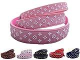 Lushpetz Designer Hundehalsband In Shwarz, Rot, Braun, Pink oder Weiß.Wasserdicht und wasserfest-Xs, klein, mittlere Größen (M, Rosa)