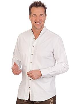 H1635 - Trachtenhemd mit langem Arm - weiß