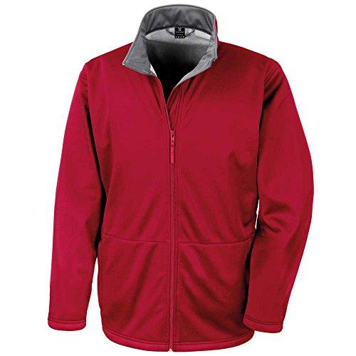 Result Mens Core Softshell Waterproof Windproof Coat Jacket red