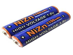 Lot de 2 Piles AAA Rechargeables 1.6V Ni-Zn 1150mwh Ultracell