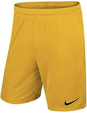 Nike YTH Park II Knit Short WB - Pantalón Corto para Niño, Color Dorado/Negro (University Gold/Black), Talla L