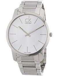 Calvin Klein K2G21126 - Reloj de caballero de cuarzo, correa de acero inoxidable color plata