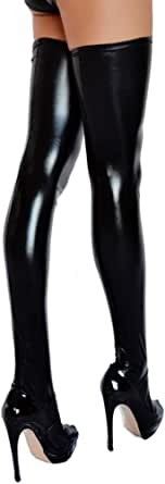 Hold-ups Stockings Overknees in 5 Sizes with Silicone Tape