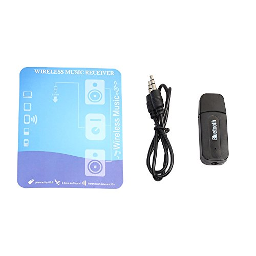 Hahuha  3,5 mm kabelloser Bluetooth 2.1 + EDR USB AUX Audio Music Receiver Adapter -