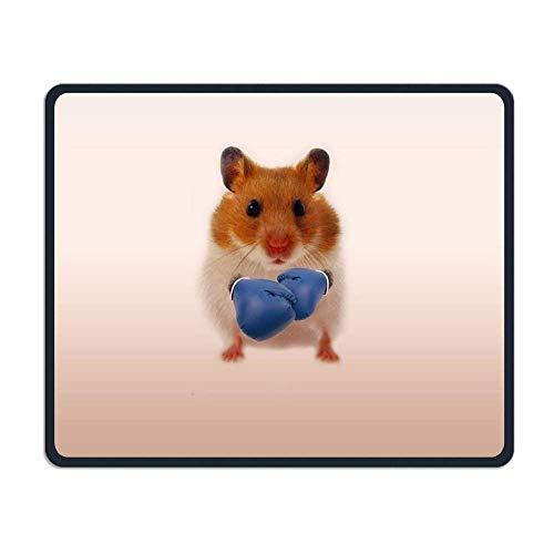 Hamster Boxer Gaming Mouse Pad Custom Design Non-Slip Rubber Mouse Mat for Desk,Laptop