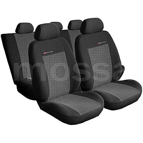 ELEGANCE (E2) (totalmente a medida) - Juego de fundas de asientos a: Ford Transit CONNECT II - (2013-….)