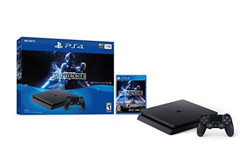 Sony PlayStation 4 Schlanke 1TB Konsole - Star Wars Battlefront II Bundle [Nicht mehr]