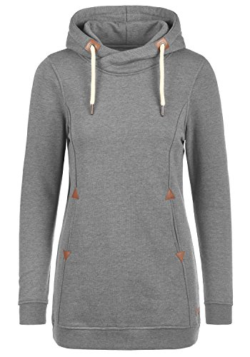 DESIRES Vicky Hood-Long Kapuzenpullover, Größe:S;Farbe:Grey Melange (8236)