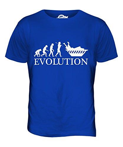 CandyMix Containern Evolution Des Menschen Herren T Shirt Königsblau