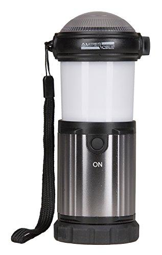 AMPERCELL 10425 Lampe de poche à LED et lampe de camping Montana 2 en 1, 3 W, Plastique, gris, 6 x 16 x 6 cm