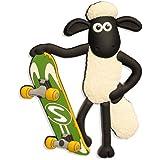 """3D Kühlschrankmagnet - Shaun das Schaf - """"Shaun mit Skateboard"""""""