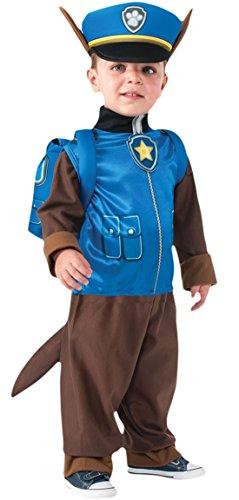 erdbeerloft - Jungen Police Pup Helfer auf Vier Pfoten Komplett Kostüm Karneval , Mehrfarbig, Größe 80-92, 1-2 ()