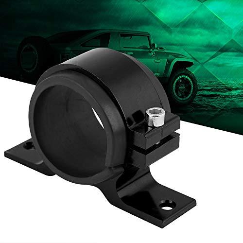 Montagehalterung - 1 PC mit 50mm Aluminium-Kraftstoff-Kraftstoffpumpe, Einzelfilterklemmenhalterung, Montagehalterung für Kraftstoffpumpe für Fahrzeuge (Schwarz, Rot und Splitter) ( Farbe : Black )