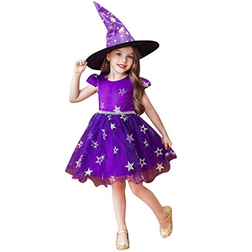 Fox Cosplay Kostüm Star - RYTEJFES Kind Mädchen Kinder Halloween Star Princess Performance Formelle Kleidung + Hut Kleidung Cosplay Kostüm mit Rock Tütü Strampler Hut Outfits Set