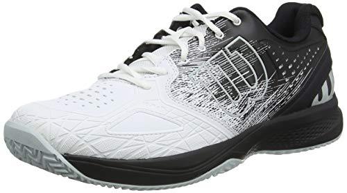 Wilson Kaos Comp 2.0, Scarpe da Tennis Uomo, Bianco/Nero/Blu Chiaro, 42 EU