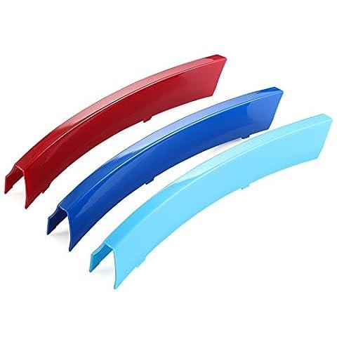 Cache de barreau de calandre de radiateur en ABS 3couleurs