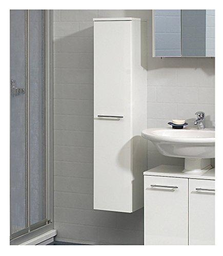 PELIPAL Badmöbel MINIMO - Midischrank 25 cm, 1-türig, 3 Einlegeböden, weiß Hochglanz